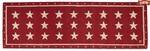 "White Stars on Red 30""x8' Rug Runner"