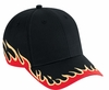 58-542 Flame Pattern Cotton Twill Low Profile Pro Style Caps