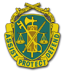 Army Military Police Corps Unit Crest  Vinyl Transfer Decal