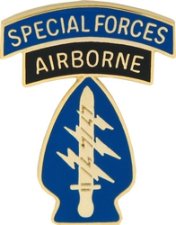 """Special Forces Airborne 1 1/8"""" Lapel Pin"""