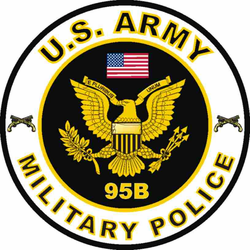 US Army MOS 95B Decal Military Police