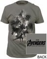 Age of Ultron avengers sketch fitted jersey tee asphalt t-shirt
