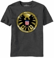 Agents of S.H.I.E.L.D. Madallion t-shirt men charcoal