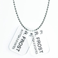 Aliens Colonial Marines Frost Dog Tags Replica pre-order
