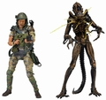 Aliens Helmeted Hudson vs Battle Damaged Brown Warrior action figure 2-pack pre-order