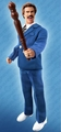 Anchorman Ron Burgundy Retro Blue Suit 8 inch Figure Pre-order