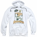 Aquaman pull-over hoodie Am Action Figure adult white