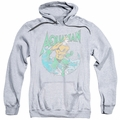 Aquaman pull-over hoodie Marco adult athletic heather