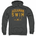 Aquaman pull-over hoodie Swin Team adult Charcoal