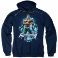 Aquaman pull-over hoodie Water Powers adult navy