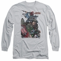 Archer & Armstrong adult long-sleeved shirt Bottle Smash silver