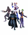 Arkham Asylum Joker Harley Batman Scarecrow Action Figure 4 Pack