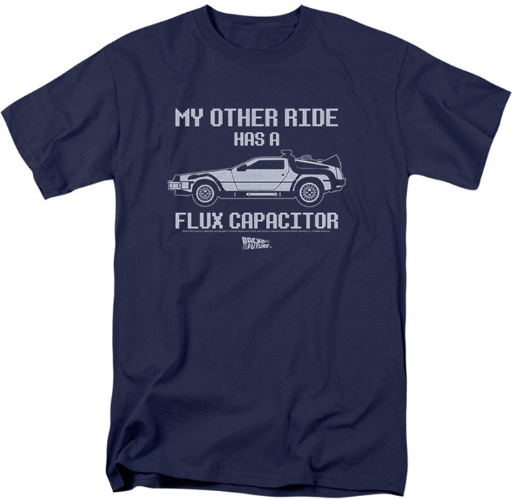 Back to the future t shirt other ride mens navy