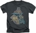 Batgirl kids t-shirt Biker charcoal
