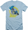 Batgirl slim-fit t-shirt  Motorcycle mens light blue