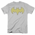 Batgirl t-shirt Logo Distressed mens silver