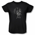 Bad Girls Are Good Batgirl Catwoman Harley Quinn womens t-shirt black