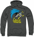 Batgirl pull-over hoodie Batgirl Is Hot adult charcoal