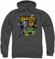 The Joker pull-over hoodie Goblin Candy adult charcoal