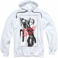 Harely Quinn pull-over hoodie Inked Quinn adult white