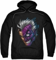 Two-Face pull-over hoodie Just Face adult black