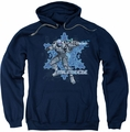 Mr Freeze pull-over hoodie adult navy