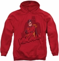 Robin pull-over hoodie Wingman adult red