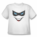 Harley Quinn youth teen t-shirt Harley Face white