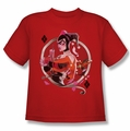 Harley Quinn youth teen t-shirt Harley Q red