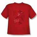 Harley Quinn youth teen t-shirt Harley's Packing red