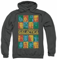 Battlestar Galactica pull-over hoodie 35th Anniversary Cast adult charcoal