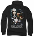 Battlestar Galactica pull-over hoodie 35th Anniversary Collage adult black