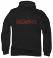 Battlestar Galactica pull-over hoodie Battered Logo adult black