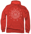 Battlestar Galactica pull-over hoodie Colonies adult red
