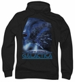 Battlestar Galactica pull-over hoodie Cylon Attack Classic adult black