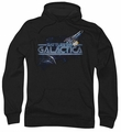 Battlestar Galactica pull-over hoodie Cylon Persuit adult black