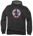 Battlestar Galactica pull-over hoodie Demons Badge adult charcoal