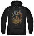 Battlestar Galactica pull-over hoodie Distressed Poster Classic adult black