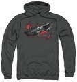 Battlestar Galactica pull-over hoodie Galactica adult charcoal