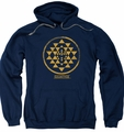 Battlestar Galactica pull-over hoodie Gold Squadron Patch adult navy