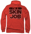 Battlestar Galactica pull-over hoodie I'm A Skin Job adult red