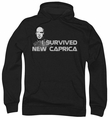 Battlestar Galactica pull-over hoodie I Survived New Caprica adult black
