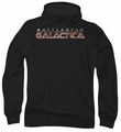 Battlestar Galactica pull-over hoodie Logo adult black