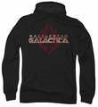 Battlestar Galactica pull-over hoodie Logo With Phoenix adult black