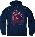 Battlestar Galactica pull-over hoodie Lucifer Classic adult navy