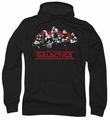 Battlestar Galactica pull-over hoodie Old School Cylons Classic adult black