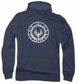 Battlestar Galactica pull-over hoodie Pegasus Badge adult navy