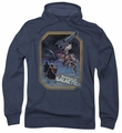 Battlestar Galactica pull-over hoodie Poster Iron On adult navy