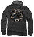 Battlestar Galactica pull-over hoodie Raptor Squadron adult charcoal