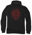 Battlestar Galactica pull-over hoodie Red Squadron Patch adult black